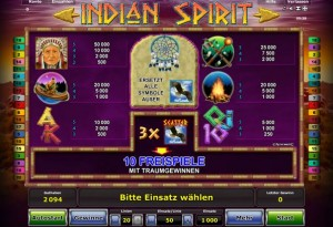 novoline indian spirit online
